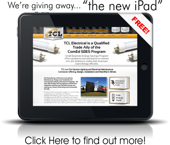 iPad give away for signing up for a new exterior lighting maintenance contract
